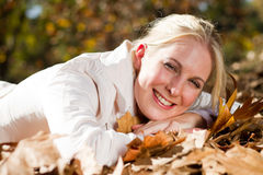 Woman in fall Royalty Free Stock Photography