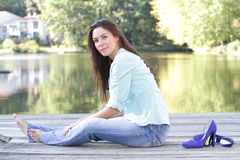 Woman Fall Stock Images