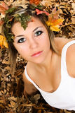 Woman Fall Beauty Stock Photography