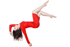 Woman falls. Stock Photos