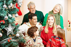 Woman and family celebrating Stock Images