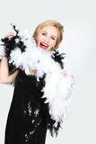 Woman in a fancy costume Stock Photo