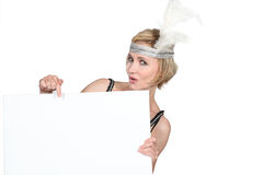 Woman in fancy dress outfot Stock Photography