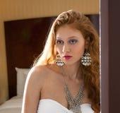 Woman in Fancy Jewelry Stock Image