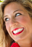 Woman with a fantastic smile Stock Photography