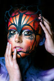 Woman with fantasy make up Stock Photography