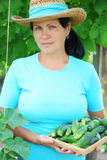 A woman farmer Stock Photo