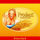 Woman farmer banner premium quality Royalty Free Stock Image