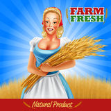 Woman farmer Royalty Free Stock Images