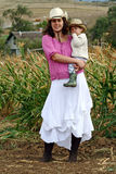 Woman Farmer With Her Son Royalty Free Stock Photo