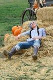 Woman Farmer Resting Royalty Free Stock Photos