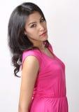 Woman fashion. Image of beautiful asian woman fashion in pink dress royalty free stock photos