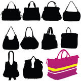 Woman fashion bag black silhouette Stock Image