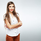 Woman fashion beauty portrait. Stock Photo