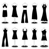Woman fashion clothes Stock Images