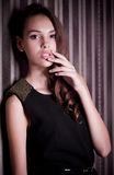 Woman in fashion clothes Royalty Free Stock Photo