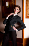 Woman in fashion clothes Royalty Free Stock Photography