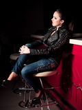 Woman in fashion clothes Royalty Free Stock Photos