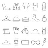 Woman fashion and clothes icons Stock Photo