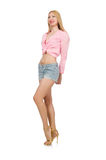 Woman in fashion clothing Stock Photo