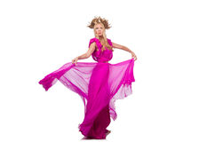 Woman in fashion clothing isolated Royalty Free Stock Photo