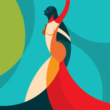 Woman fashion  on colourful background Stock Photography