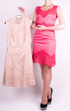 woman in fashion dress Stock Photos