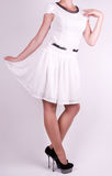 Woman in fashion dress Royalty Free Stock Image