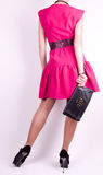 Woman in fashion dress Royalty Free Stock Photography