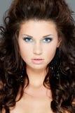 Woman fashion face portrait or beauty stock image