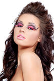 Woman fashion face portrait or beauty stock photography