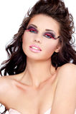 Woman fashion face portrait or beauty stock images