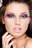 Woman fashion face portrait or beauty Stock Photos
