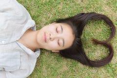 Woman fashion hairstyle Stock Photo