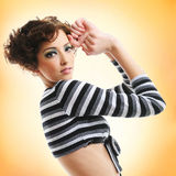 Woman with fashion hairstyle Stock Image