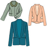 Woman fashion jacket colorful illustration Royalty Free Stock Image