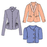 Woman fashion jacket colorful illustration Stock Photos
