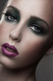 Woman with fashion makeup Royalty Free Stock Image