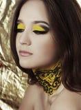 Woman with fashion makeup Stock Photo