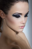 Woman with fashion makeup Stock Photo