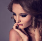 Woman with fashion makeup Royalty Free Stock Photo