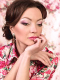 Woman with fashion makeup Royalty Free Stock Photos