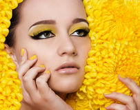 Woman with fashion makeup Stock Images