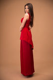 Woman in fashion red dress Royalty Free Stock Photo
