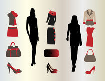 Woman fashion set Stock Photos