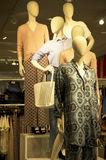 Woman fashion store mall Royalty Free Stock Images