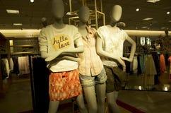 Woman fashion store mall Stock Photography