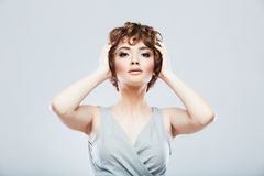 Woman fashion style portrait. Royalty Free Stock Photos