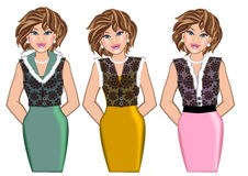 Woman fashion style stock illustration