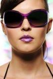 Woman and fashion sunglasses Stock Image